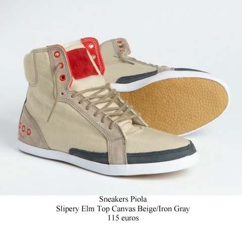 Piola-sneakers-beige dans le coin des chaussures