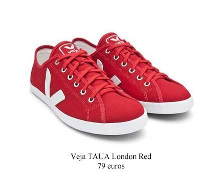 Faites votre choix pour les chaussures d'été dans le coin des chaussures Veja-Taua-London-Red