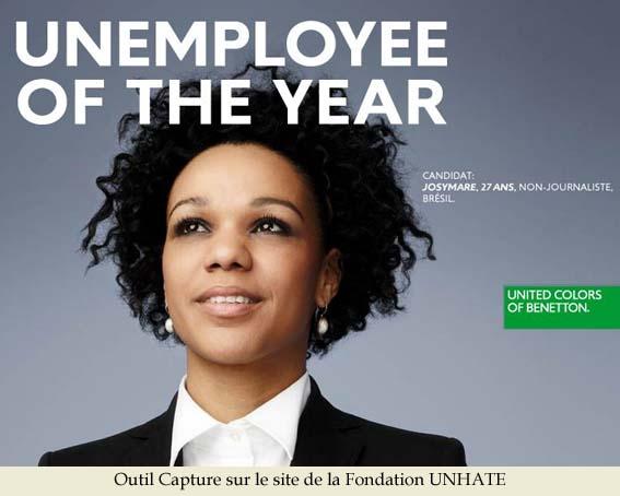 Concours pour la nouvelle campagne UNHATE de Benetton dans Actualités UNHATE-Unemployee-of-the-Year
